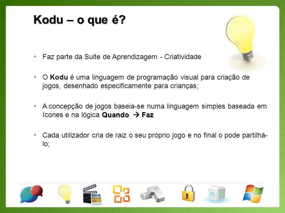 Kodu – o que permite.