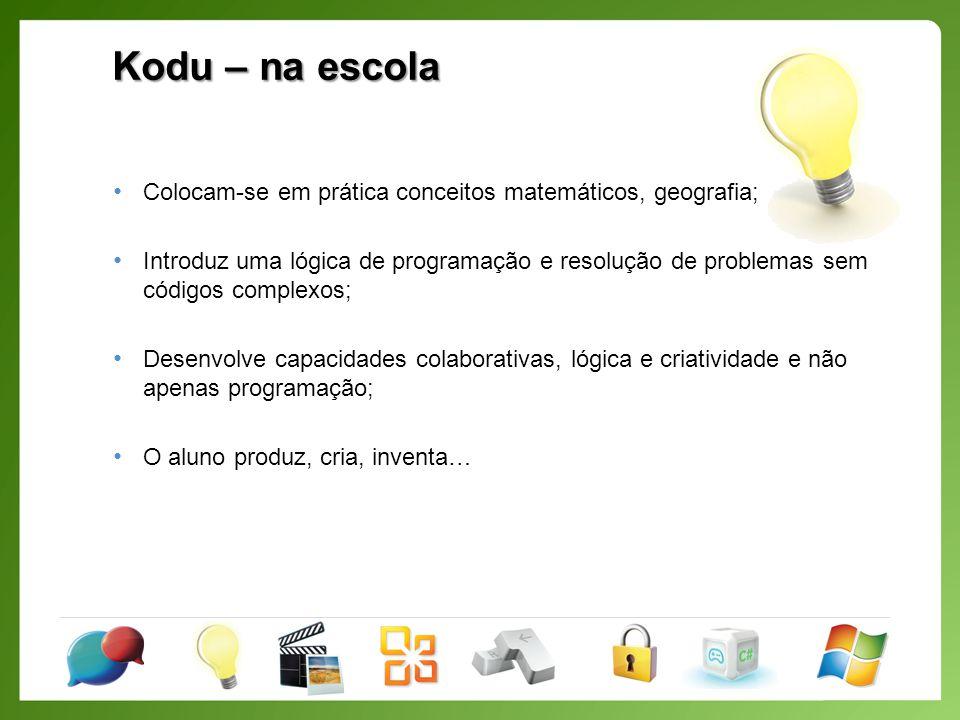 Kodu – O nosso primeiro jogo Incluir acções ao Kodu
