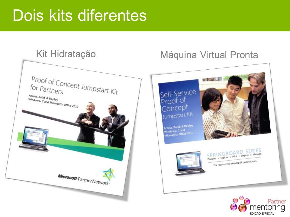 Dois kits diferentes Kit Hidratação Máquina Virtual Pronta