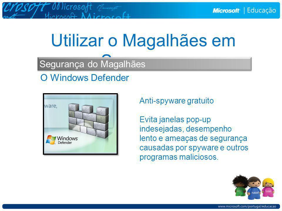O Windows Defender Utilizar o Magalhães em Segurança Segurança do Magalhães Anti-spyware gratuito Evita janelas pop-up indesejadas, desempenho lento e ameaças de segurança causadas por spyware e outros programas maliciosos.