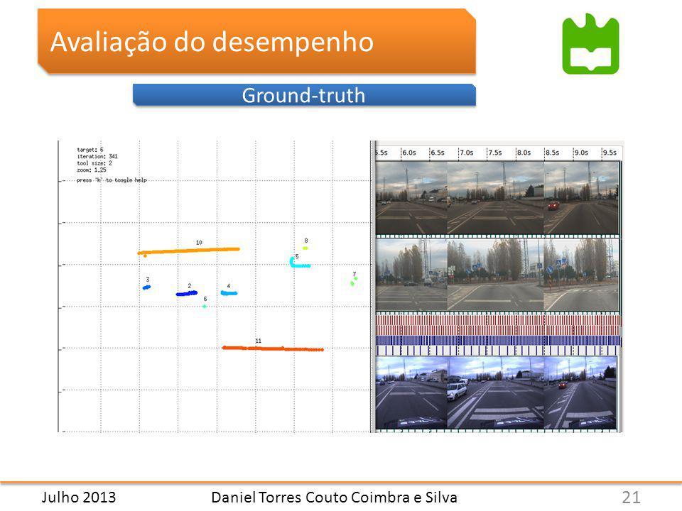Daniel Torres Couto Coimbra e Silva Avaliação do desempenho Ground-truth 21 Julho 2013