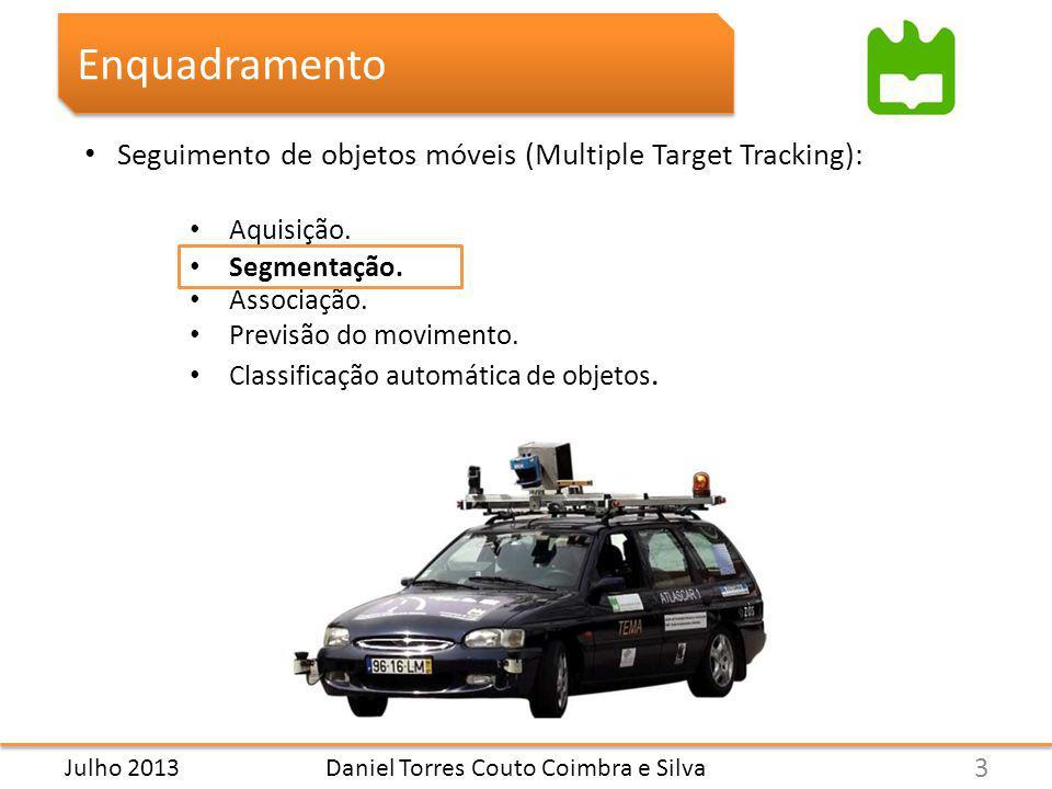 Daniel Torres Couto Coimbra e Silva Enquadramento Seguimento de objetos móveis (Multiple Target Tracking): Aquisição.