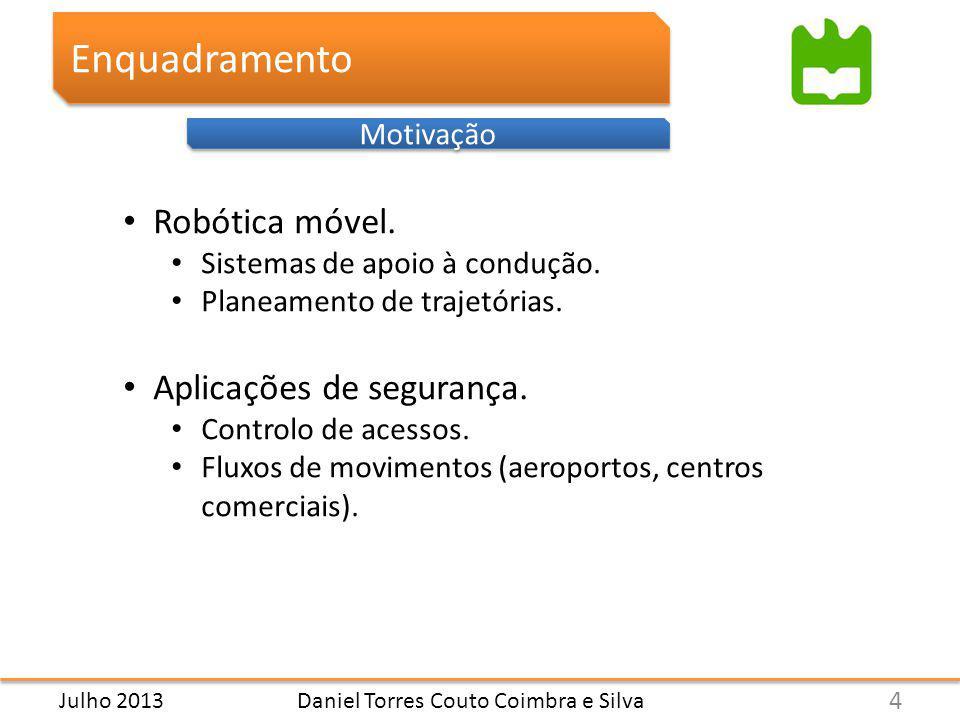 Daniel Torres Couto Coimbra e Silva Enquadramento Motivação Robótica móvel.