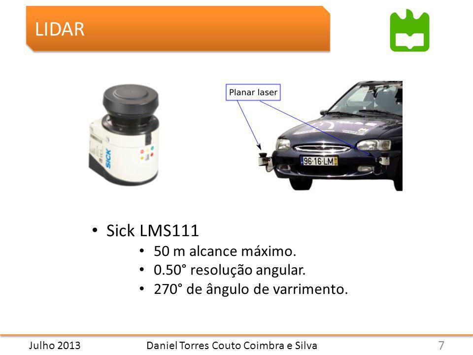 Daniel Torres Couto Coimbra e Silva LIDAR Sick LMS111 50 m alcance máximo.