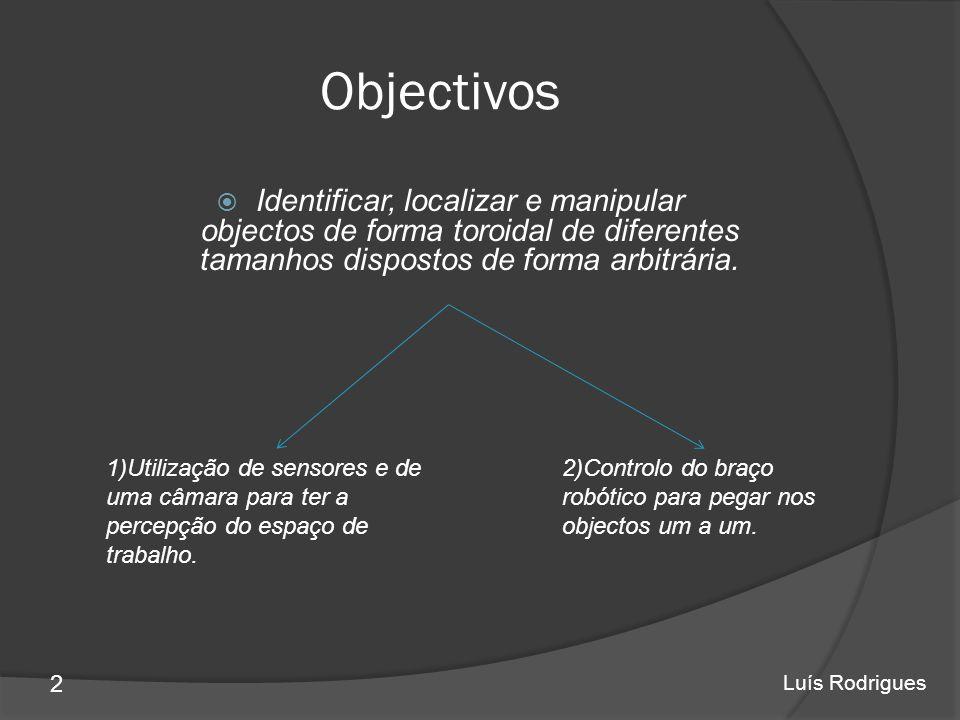 Objectivos Identificar, localizar e manipular objectos de forma toroidal de diferentes tamanhos dispostos de forma arbitrária.