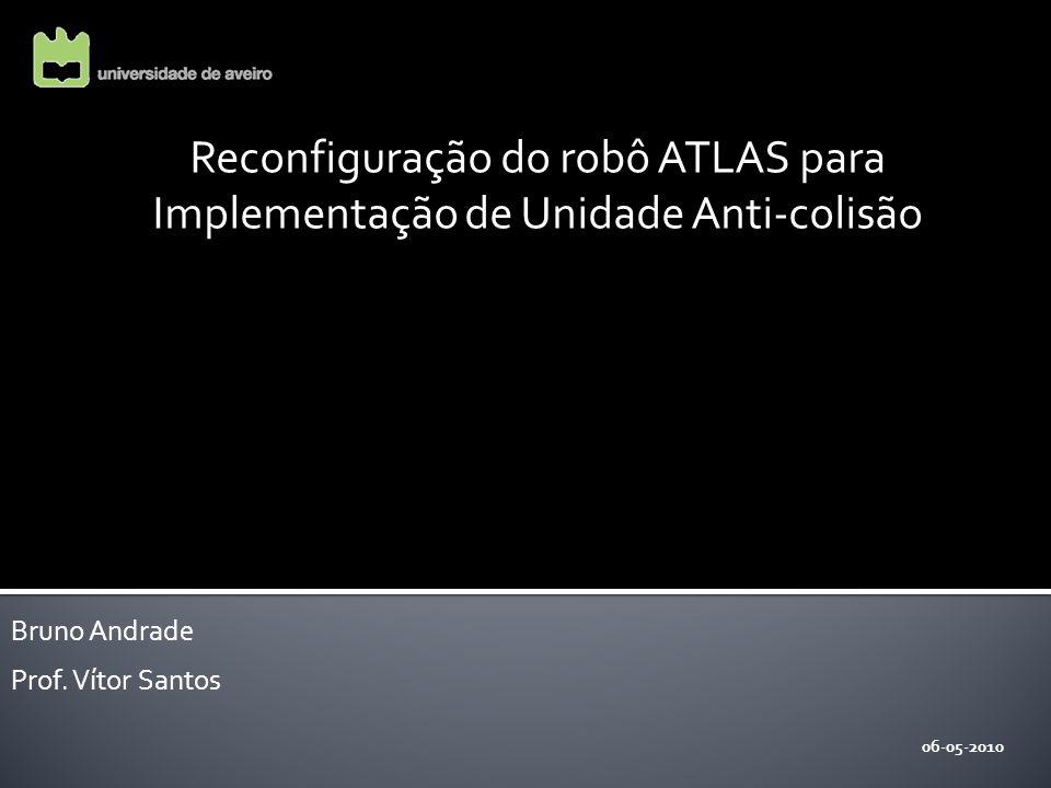 Reconfiguração do robô ATLAS para Implementação de Unidade Anti-colisão 06-05-2010 Bruno Andrade Prof.