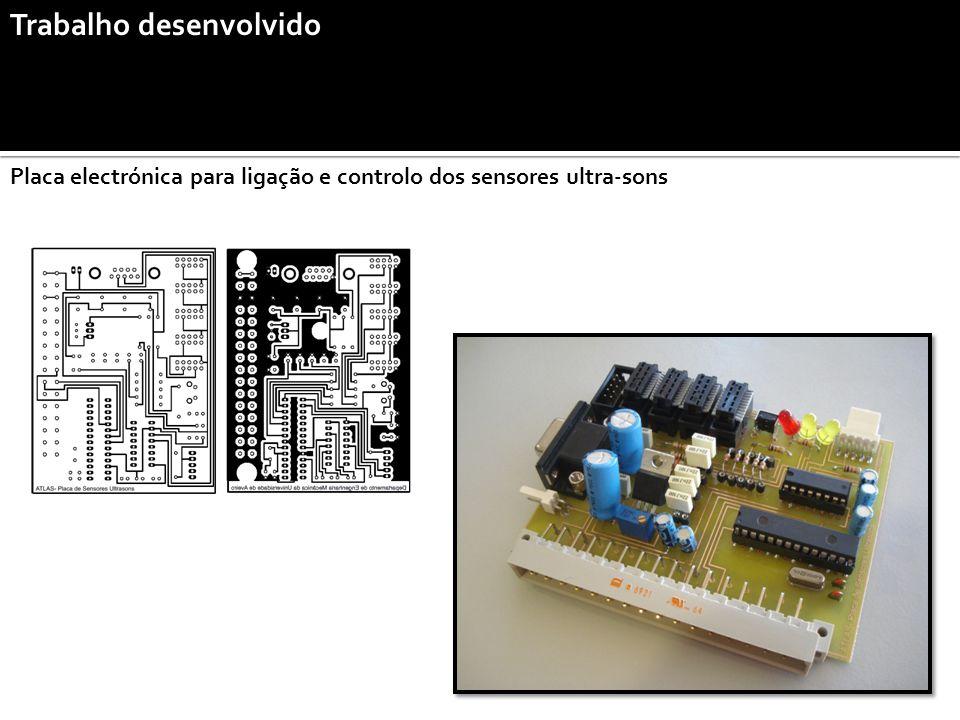 Trabalho desenvolvido Placa electrónica para ligação e controlo dos sensores ultra-sons