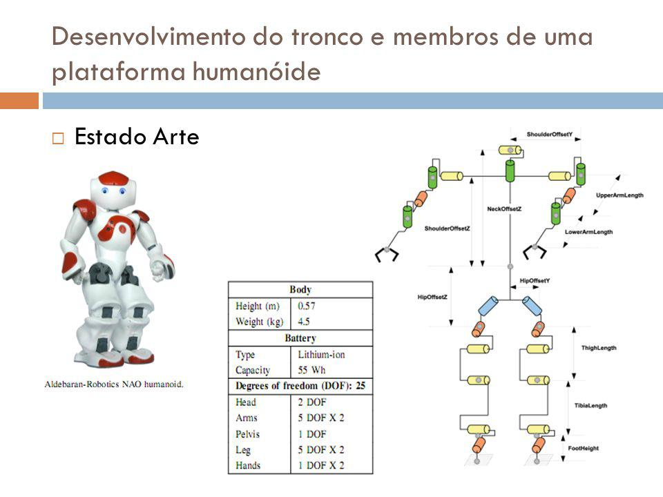Estado Arte Desenvolvimento do tronco e membros de uma plataforma humanóide