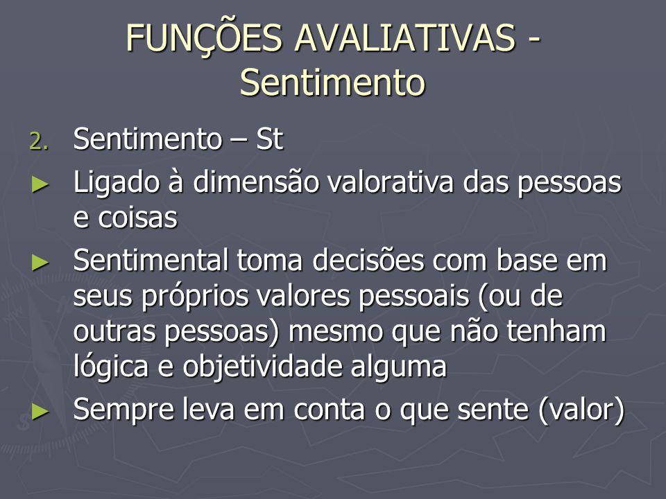 FUNÇÕES AVALIATIVAS - Sentimento 2.
