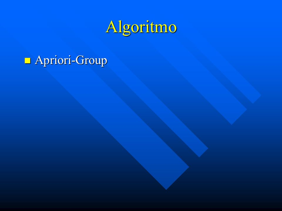Algoritmo Apriori-Group Apriori-Group