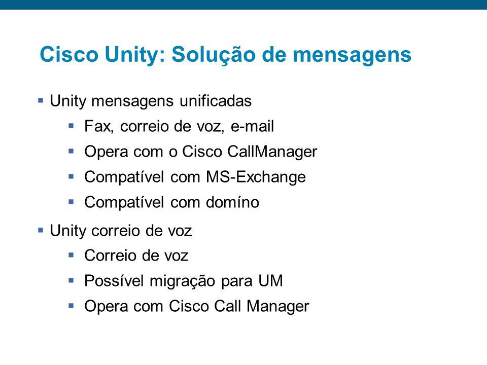Alta disponibilidade (upgrade) Cluster alta capacidade Primário Secundário 7.500 Tel. IP <15.000 Tel. IP > 30.000 Tel. IP Terciário Escalabilidade do