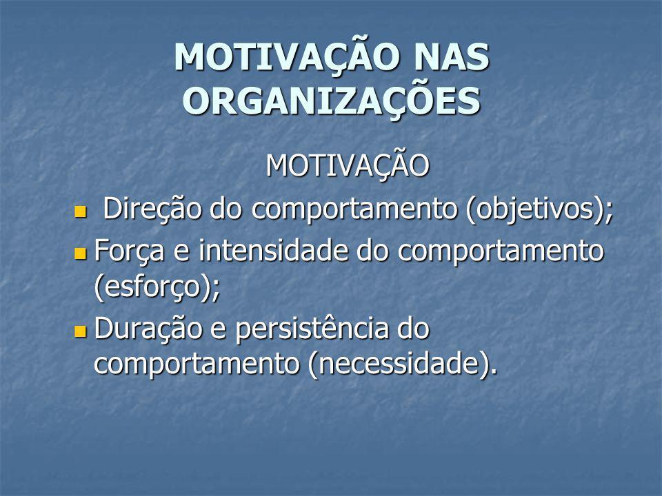 MOTIVAÇÃO NAS ORGANIZAÇÕES TEORIA DE CONTEÚDO 2 – Teoria das Necessidades de Maslow A motivação pode estar baseada na deficiência ou no crescimento.