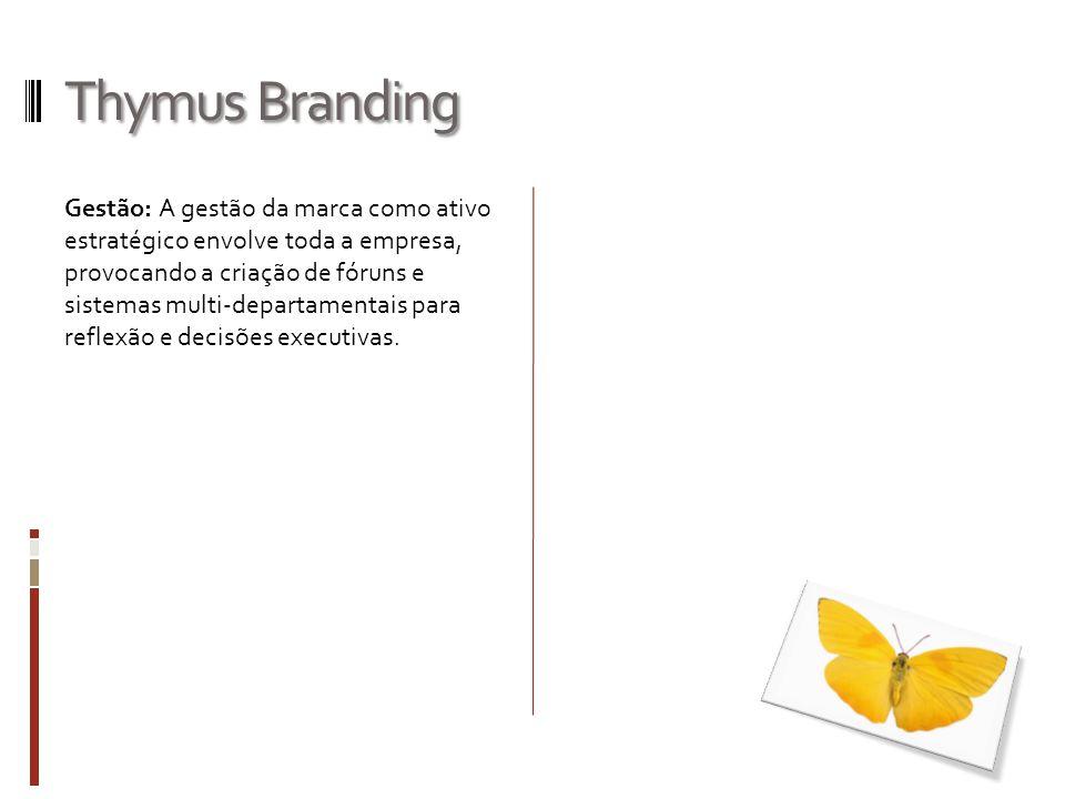 Thymus Branding Gestão: A gestão da marca como ativo estratégico envolve toda a empresa, provocando a criação de fóruns e sistemas multi-departamentai