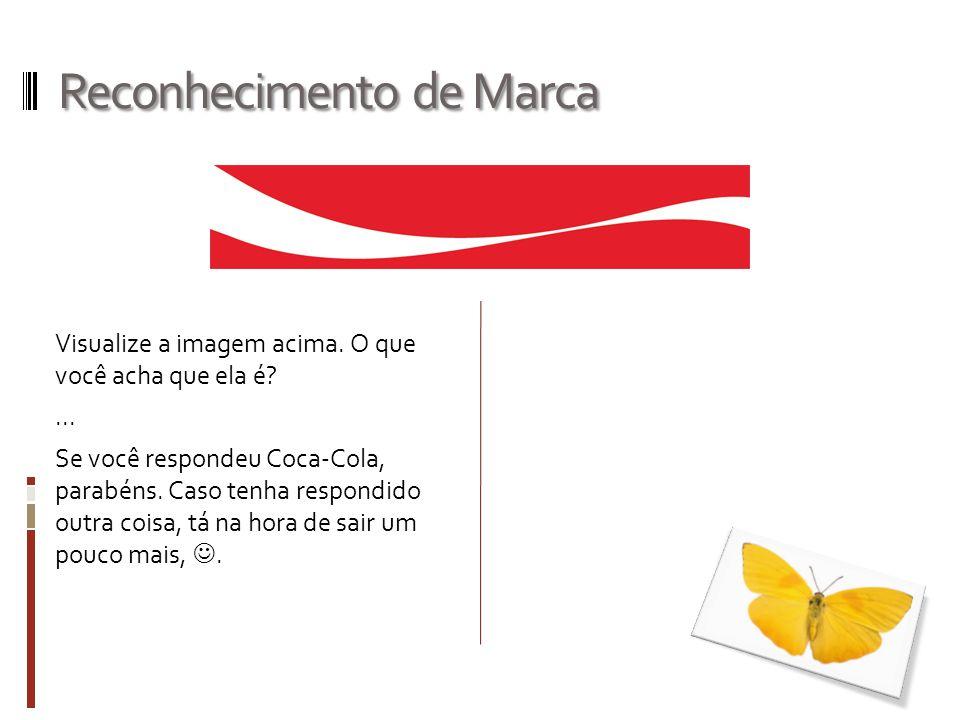 Reconhecimento de Marca Como que você chegou na conclusão de que essa imagem representa a Coca-Cola?......