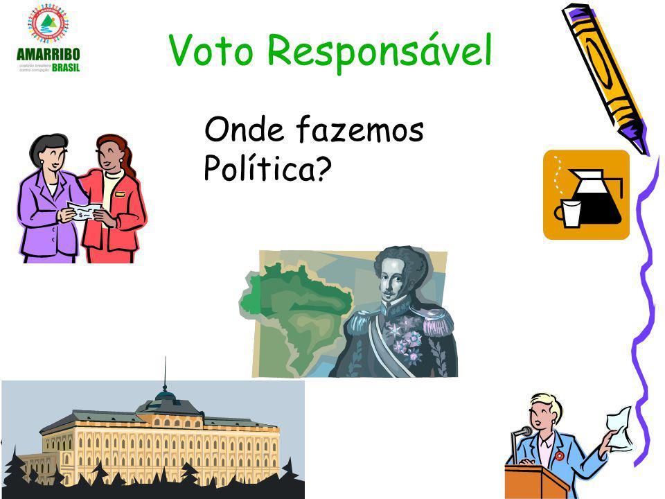 Voto Responsável Valorize o seu voto –A democracia só funciona assim.