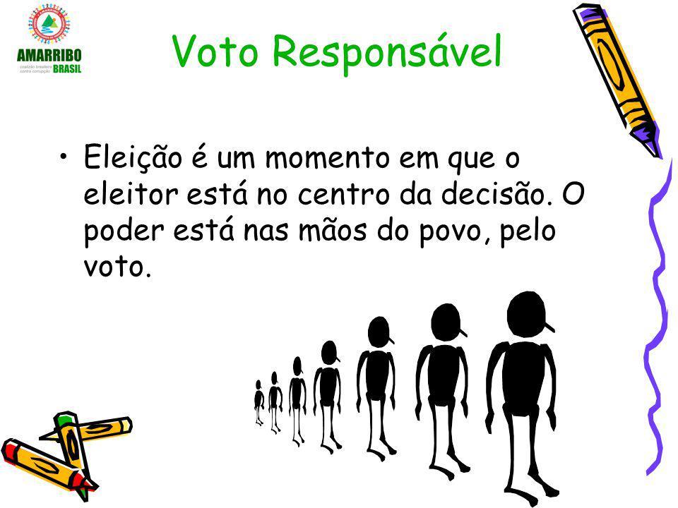 Voto Responsável Eleição é um momento em que o eleitor está no centro da decisão. O poder está nas mãos do povo, pelo voto.