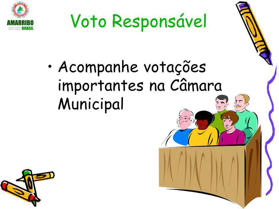 Voto Responsável Acompanhe votações importantes na Câmara Municipal