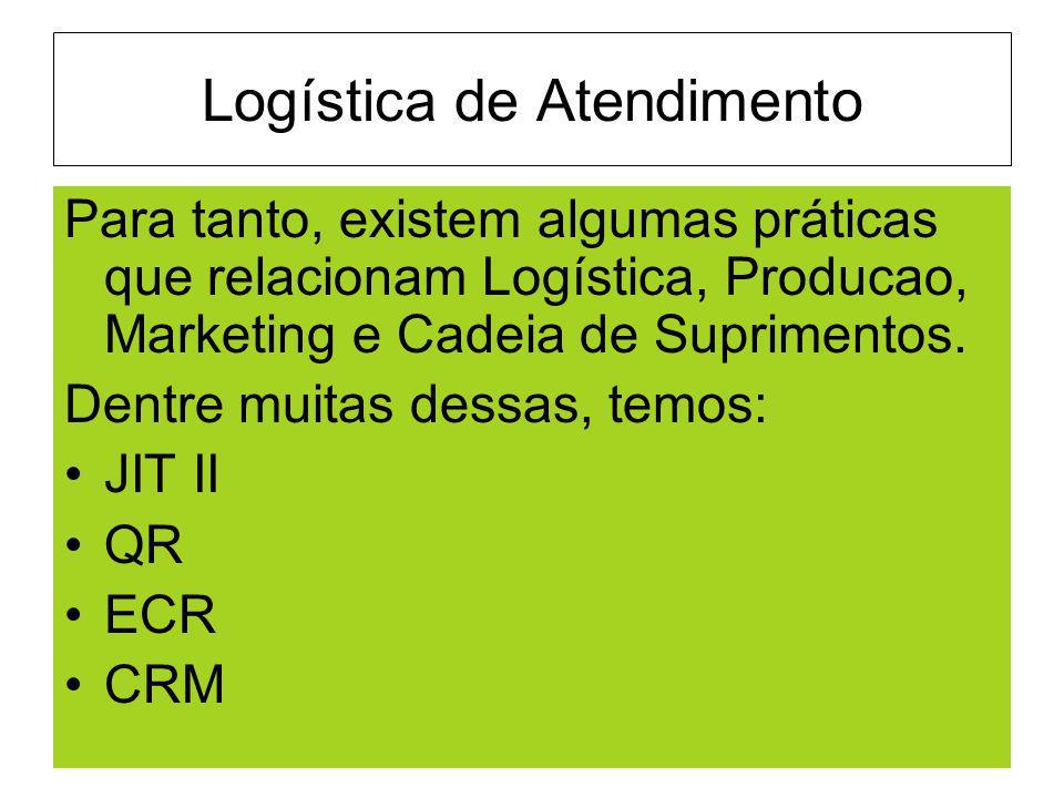 Logística de Atendimento Para tanto, existem algumas práticas que relacionam Logística, Producao, Marketing e Cadeia de Suprimentos. Dentre muitas des