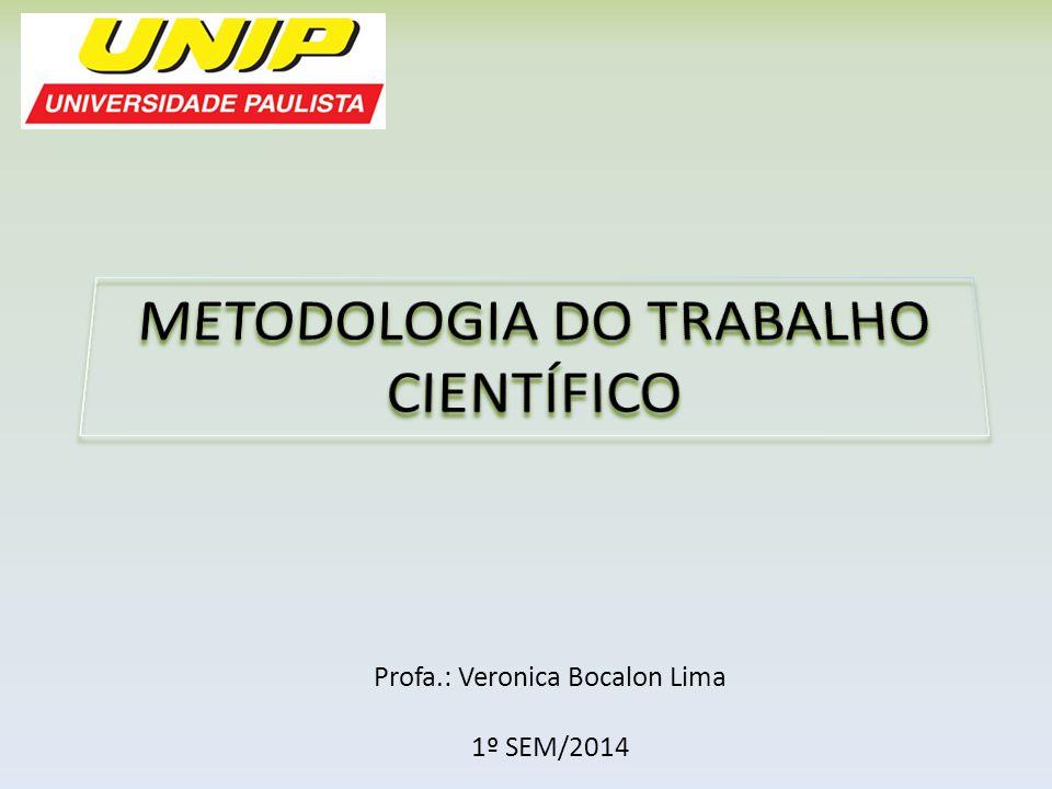 Profa.: Veronica Bocalon Lima 1º SEM/2014