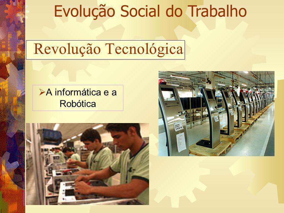 Revolução Tecnológica A informática e a Robótica Evolução Social do Trabalho