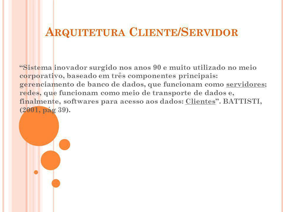 B IBLIOGRAFIA www.unice.br/anaclara/sd0202/3doc www.dcc.ufrj.br/nlabbd/texto/cliserv.htm www.hp.br.inter.net/cats/pb/pbl.html www.infosites.com.br/htdoes/artigo/comandos/02.php www.delgrande.com.br/cases/santarita.html www.ibm.com.br/wsminformatica/cs.htm www.dataflow.com.br/suporte/glossario/arquitclisvr.htm www.terravista.pt/ilhadomel/2388/apo.htm www.thinnetworks.com.br/thinclient.asp