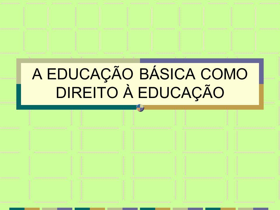 EDUCAÇÃO BÁSICA como DIREITO Á EDUCAÇÃO EDUCAÇÃO BÁSICA como um TODO ORGÂNICO E SEQUENCIAL DIRETRIZES CURRICULARES E POLÍTICA CURRICULAR NACIONAL