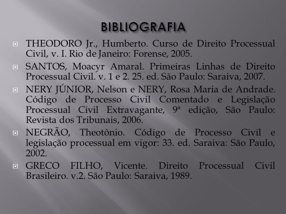 THEODORO Jr., Humberto.Curso de Direito Processual Civil, v.