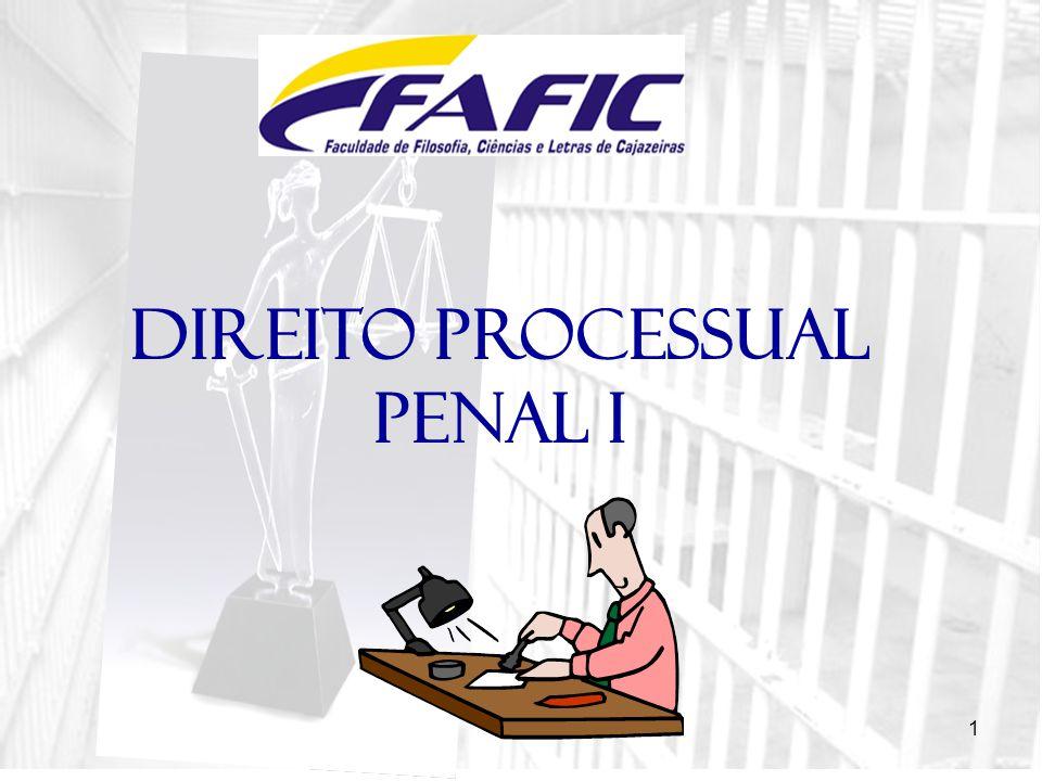 1 DIREITO PROCESSUAL PENAL I