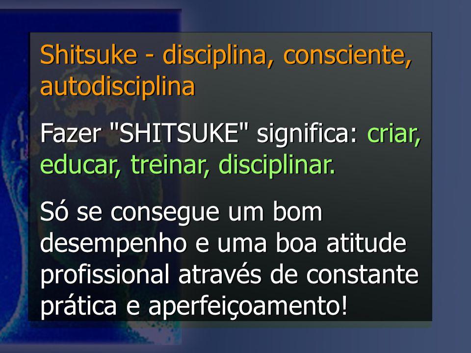 Shitsuke - disciplina, consciente, autodisciplina Fazer