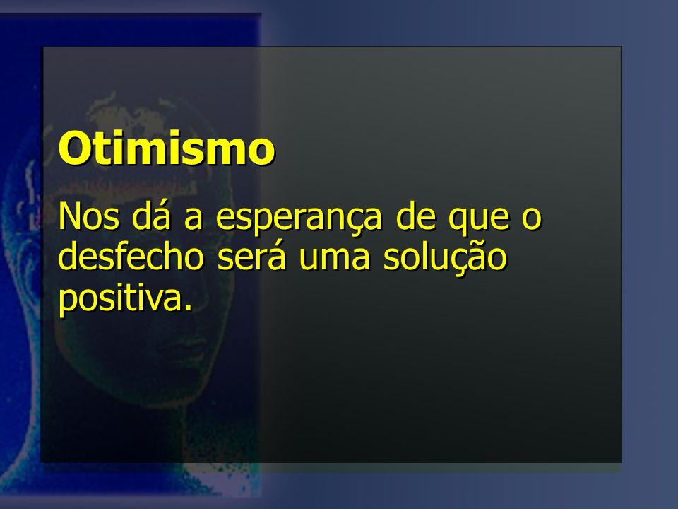 Otimismo Nos dá a esperança de que o desfecho será uma solução positiva. Otimismo Nos dá a esperança de que o desfecho será uma solução positiva.