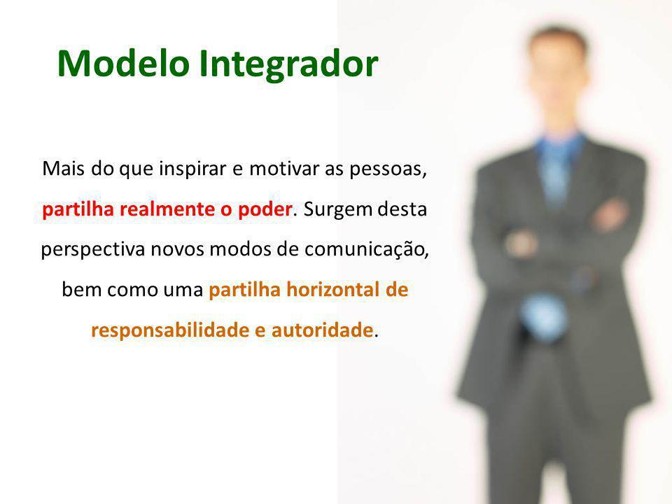 Modelo Integrador Mais do que inspirar e motivar as pessoas, partilha realmente o poder.