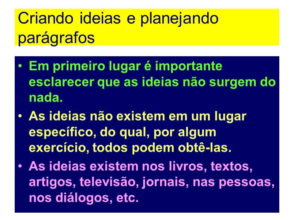 Parágrafo organizado por enumeração Seu objetivo principal é listar princípios, exemplos, características fatos e eventos.