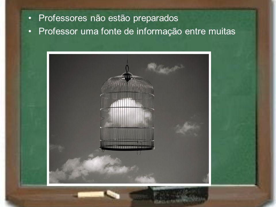 Professores não estão preparados Professor uma fonte de informação entre muitas
