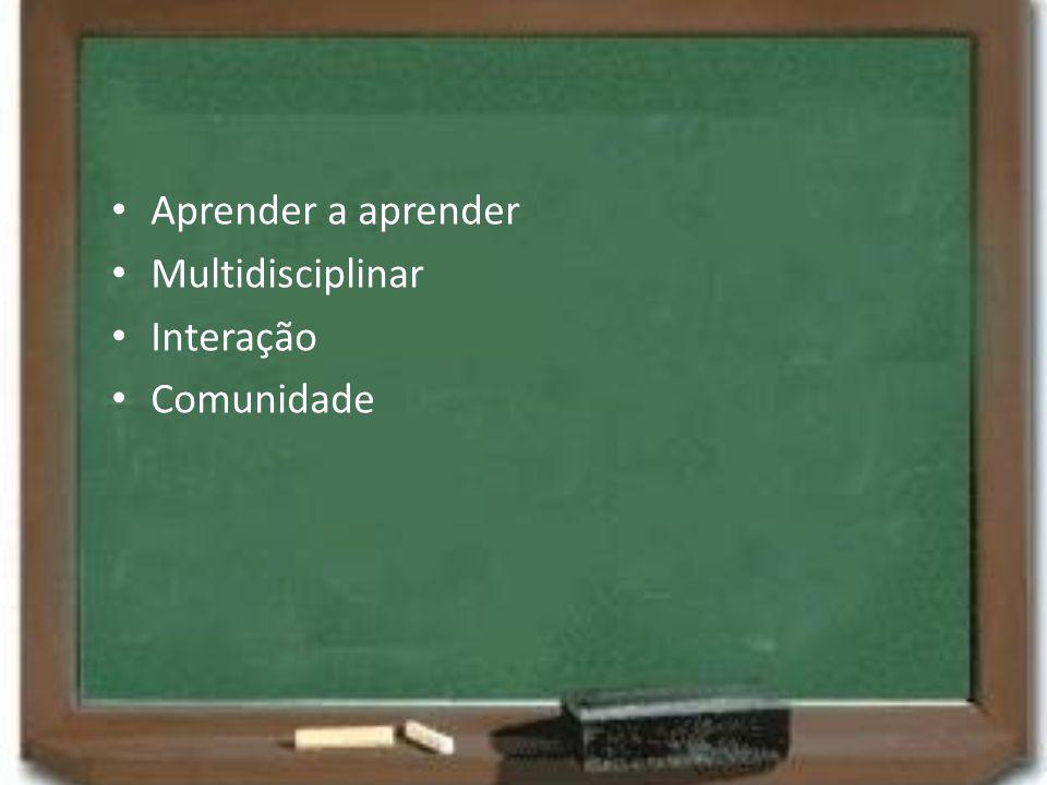 Aprender a aprender Multidisciplinar Interação Comunidade