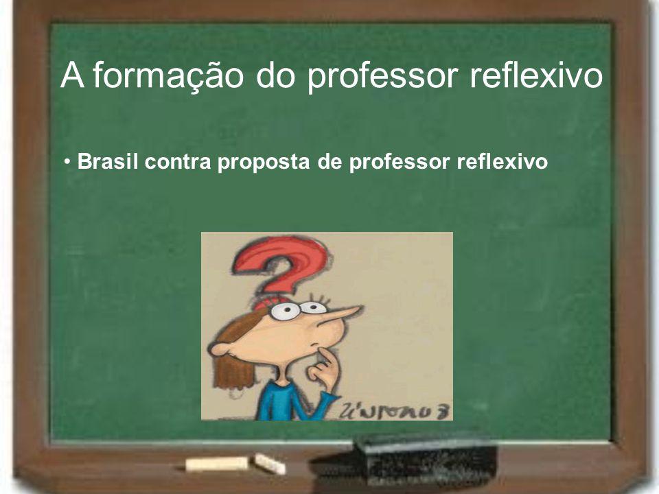 A formação do professor reflexivo Brasil contra proposta de professor reflexivo