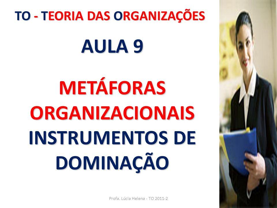 TO - TEORIA DAS ORGANIZAÇÕES Profa. Lúcia Helena - TO 2011-2 AULA 9 METÁFORAS ORGANIZACIONAIS INSTRUMENTOS DE DOMINAÇÃO