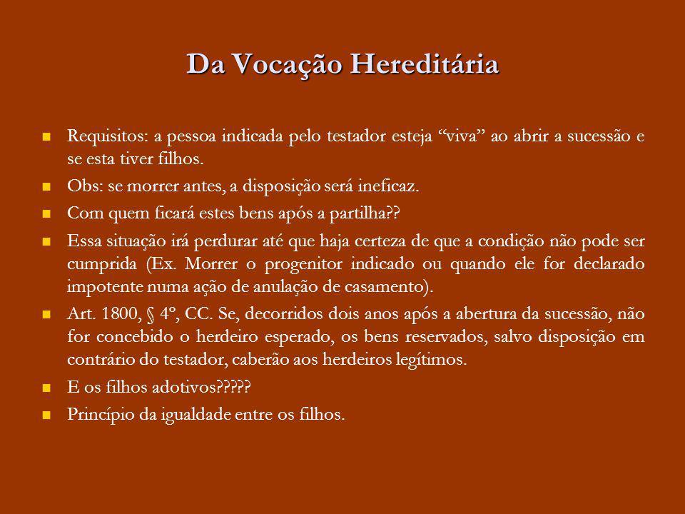 Da Vocação Hereditária Art.