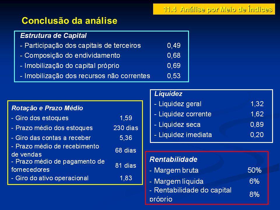 Conclusão da análise 11.4 Análise por Meio de Índices