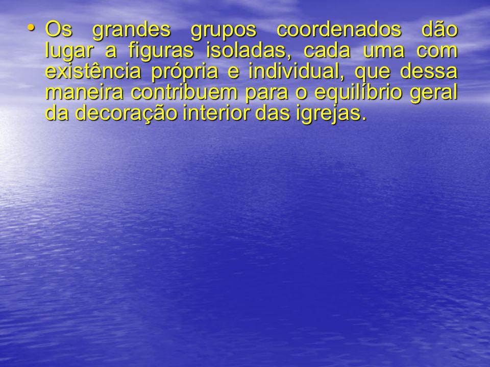 Os grandes grupos coordenados dão lugar a figuras isoladas, cada uma com existência própria e individual, que dessa maneira contribuem para o equilíbr