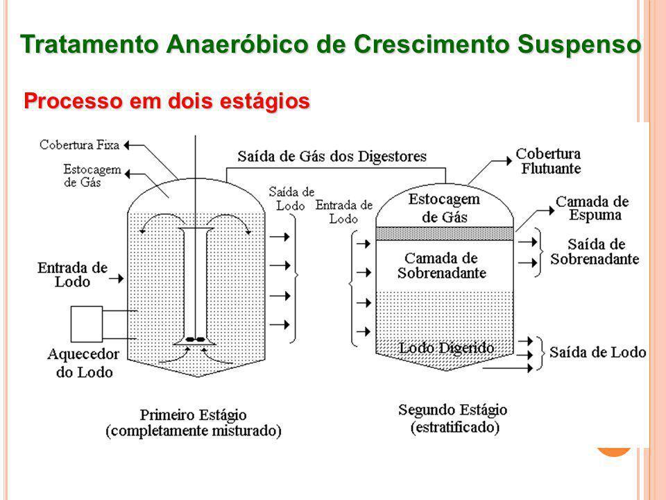 Tratamento Anaeróbico de Crescimento Suspenso Processo em dois estágios
