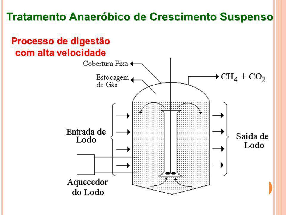Tratamento Anaeróbico de Crescimento Suspenso A combinação dos dois processos básicos (de alta velocidade e padrão) é conhecido como processo em dois estágios.