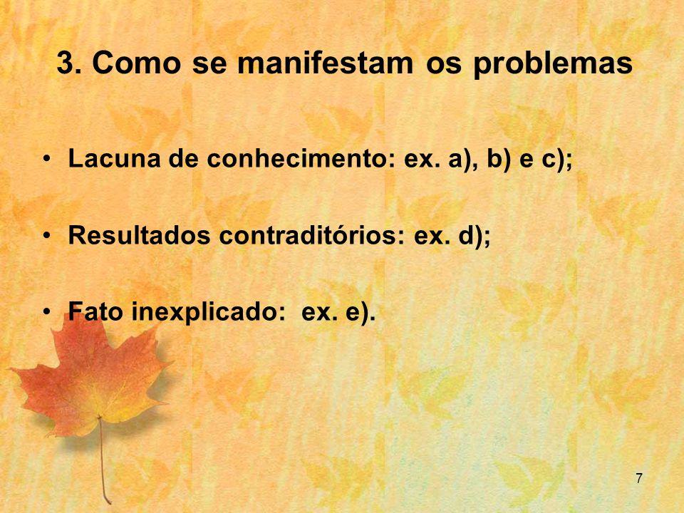 8 3.Como definir um problema.