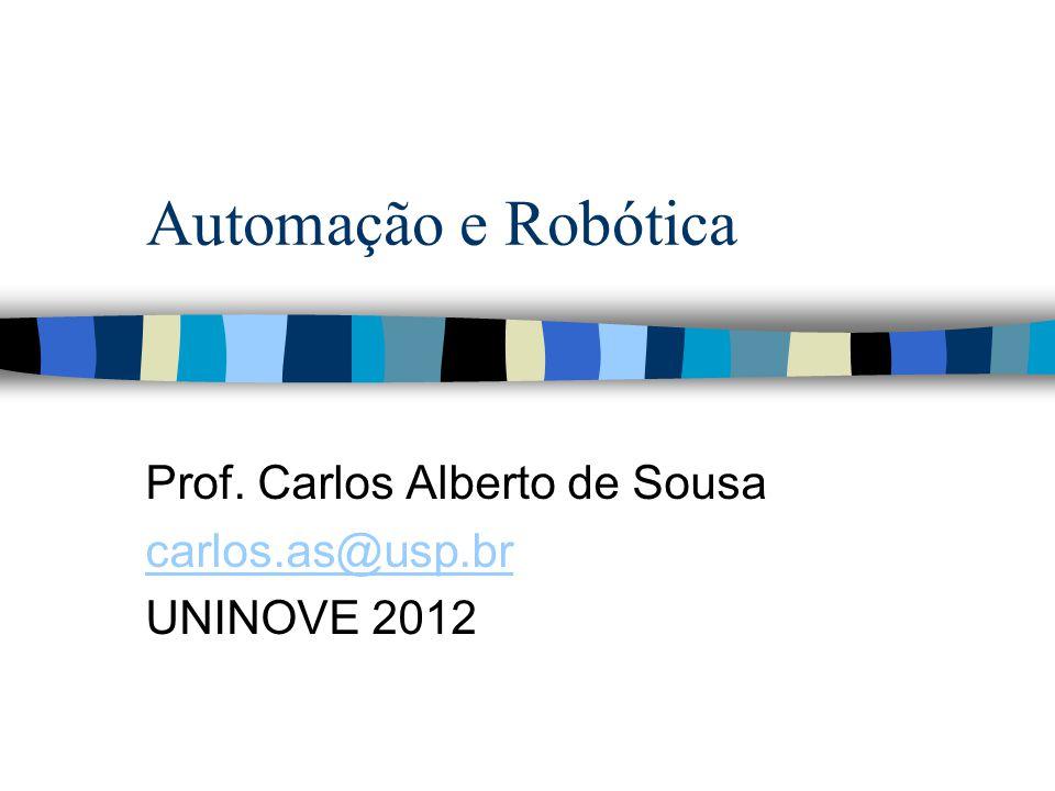 Automação e Robótica Prof. Carlos Alberto de Sousa carlos.as@usp.br UNINOVE 2012