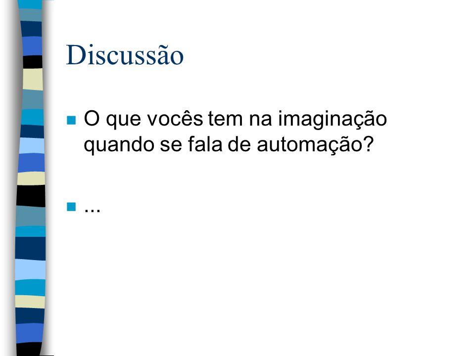 Discussão n O que vocês tem na imaginação quando se fala de automação? n...
