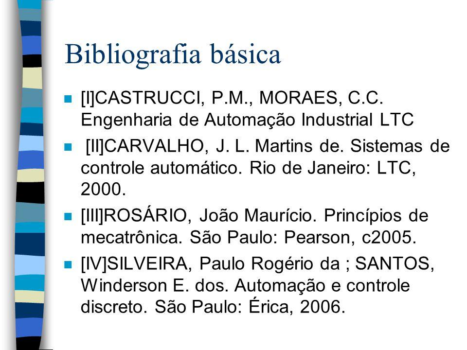 Bibliografia básica n [I]CASTRUCCI, P.M., MORAES, C.C.