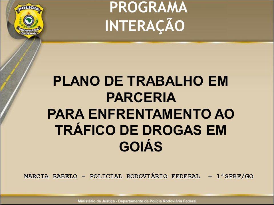 PROGRAMA INTERAÇÃO PLANO DE TRABALHO EM PARCERIA – 1ªSPRF/GO JÚLIO SÉZAR GOMES FERREIRA JÚLIO SÉZAR GOMES FERREIRA SUPERINTENDENTE REGIONAL ALVARO DE RESENDE FILHO CHEFE DA SEÇÃO DE POLICIAMENTO E FISCALIZAÇÃO – SPF/1ªSPRF/GO