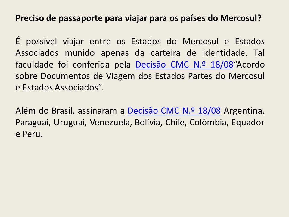 Preciso de passaporte para viajar para os países do Mercosul? É possível viajar entre os Estados do Mercosul e Estados Associados munido apenas da car