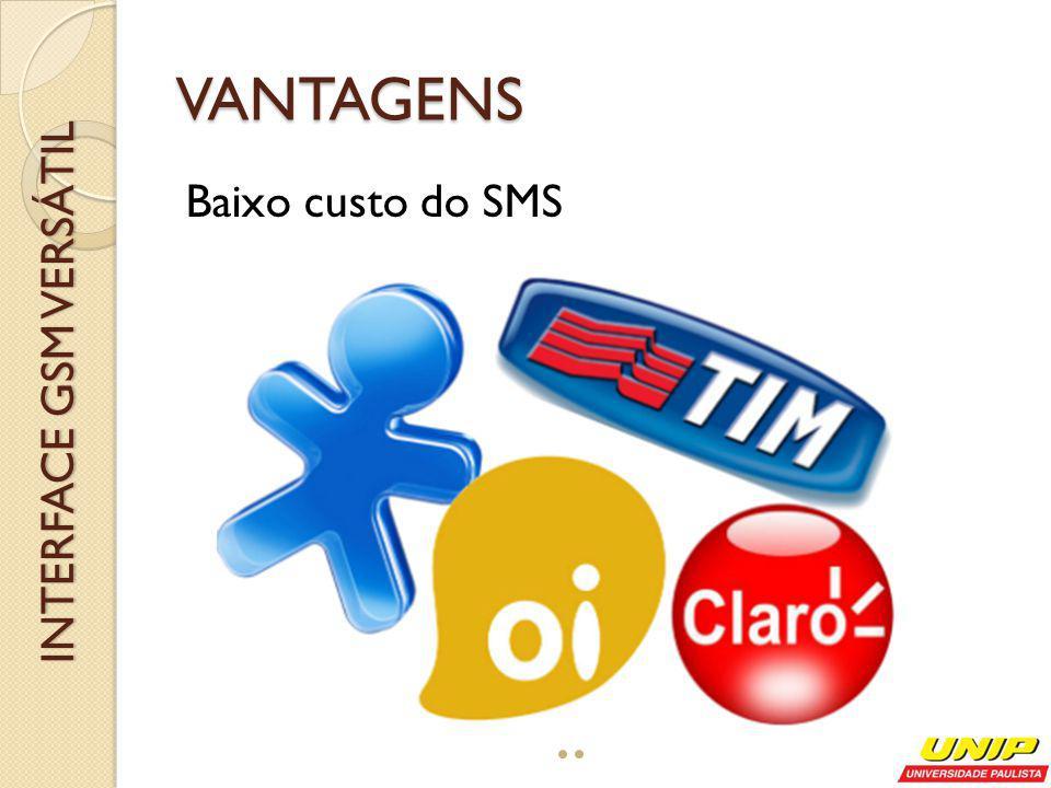 Dependência do sinal INTERFACE GSM VERSÁTIL DESVANTAGENS