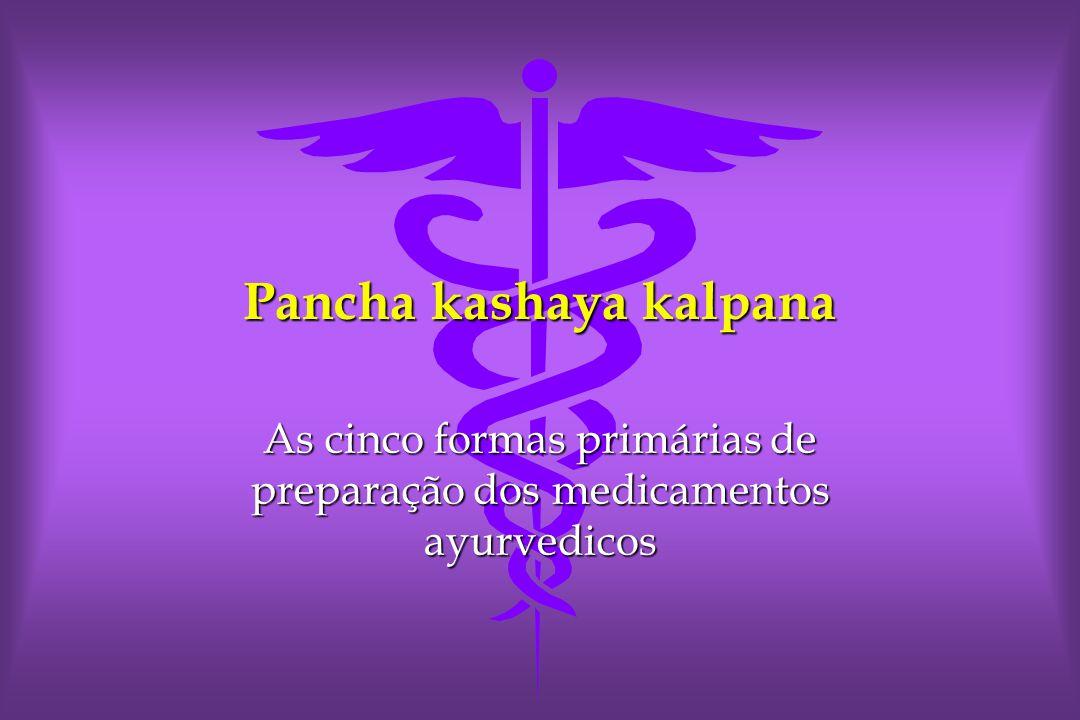 Pancha kashaya kalpana As cinco formas primárias de preparação dos medicamentos ayurvedicos