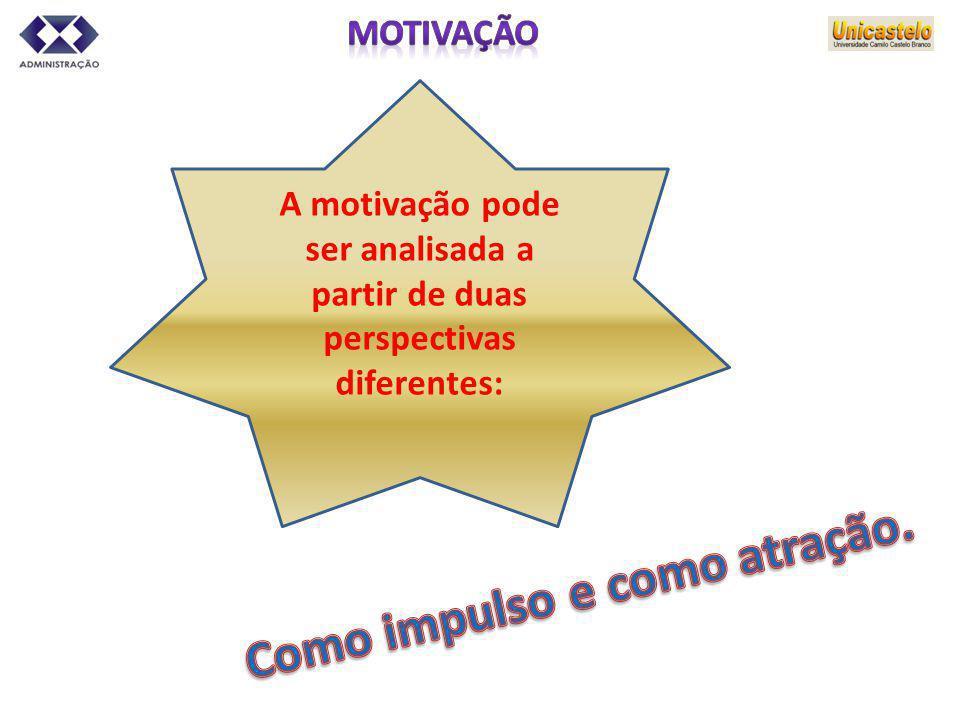 A motivação pode ser analisada a partir de duas perspectivas diferentes: